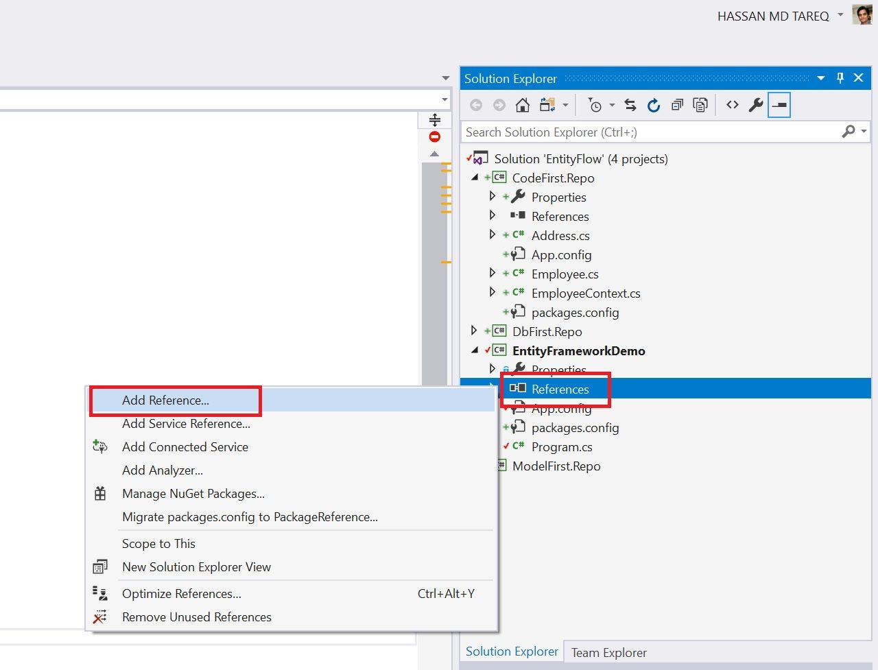 Entity Framework Code Fisrt Approach - Creating edmx from DbContext Step 15